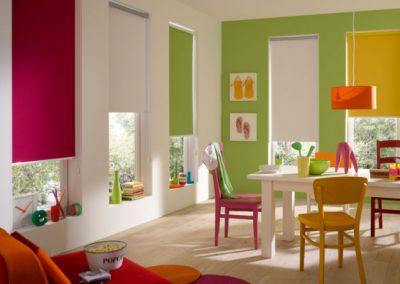 Rollo für hohe Fenster in Trendfarben