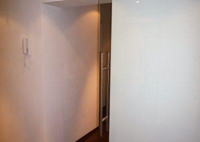 Glasschiebe Tür